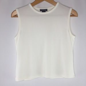 The Limited crop top, sleeveless, cream